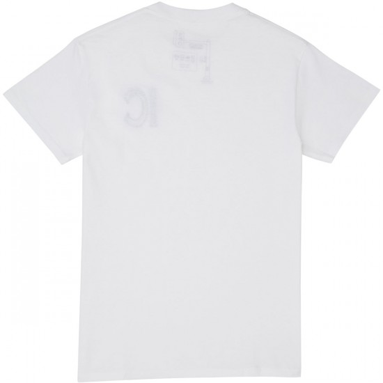 Illegal Civilization Classic Embroidery T-Shirt - White