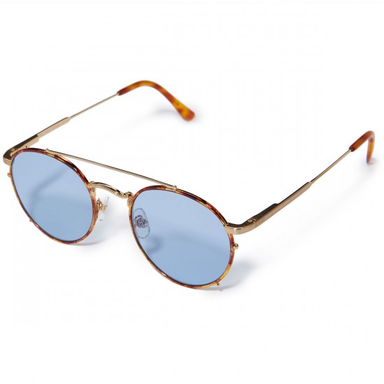 Crap Eyewear The Tuff Safari Sunglasses - Havana Tortoise Rims/Brushed Gold Wire