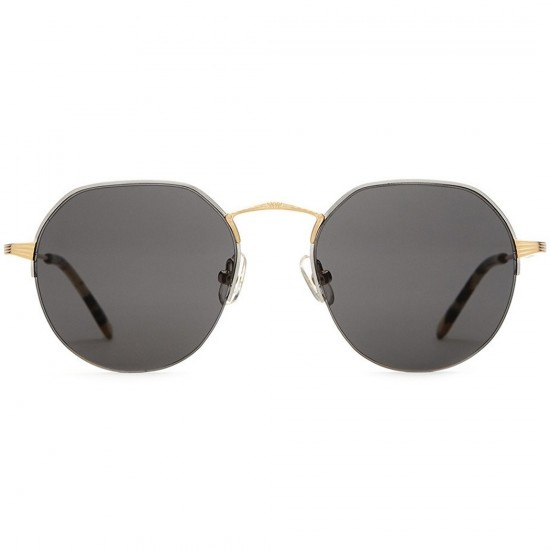 Crap Eyewear The Joy Brigade Sunglasses - Brushed Silver & Gold Wire/Gloss Jungle Tortoise Tips