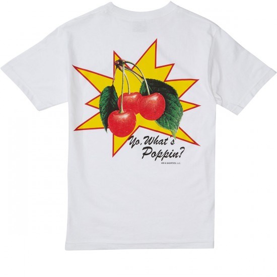 40s And Shorties Whats Poppin T-Shirt - White