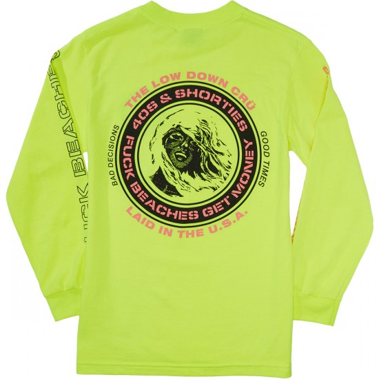 40s And Shorties F Beaches Longsleeve T-Shirt - Neon Yellow