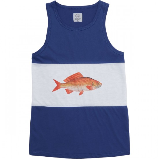 Antler And Woods Golden Fish Tank Top - White/Navy
