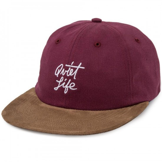 Quiet Life Cursive Polo Hat - Burgundy
