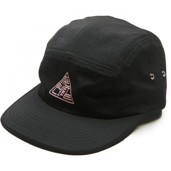 Quiet Life Pyramid 5 Panel Camper Hat - Black