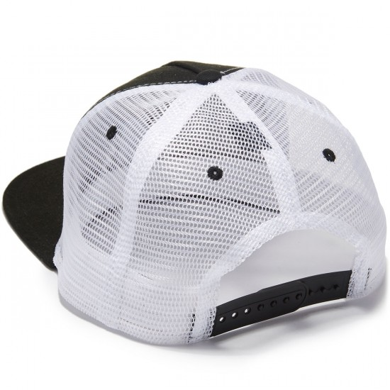 Hopps Hopps Label Trucker Hat - Black/Black