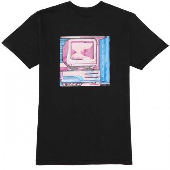 Pizza Computer T-Shirt - Black
