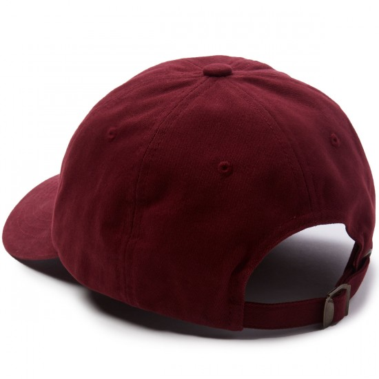 Welcome Tonal Scrawl Unstructured 6-Panel Hat - Maroon