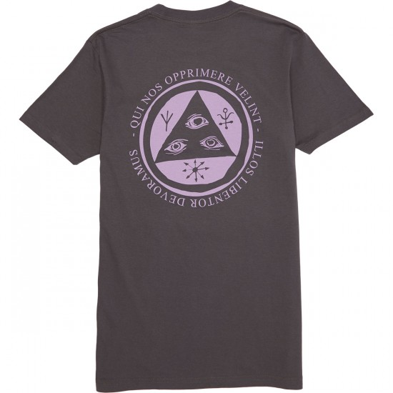 Welcome Latin Talisman T-Shirt - Grey/Lavender