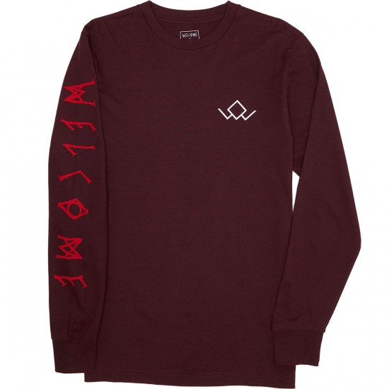 Welcome Audrey Longsleeve T-Shirt - Wine