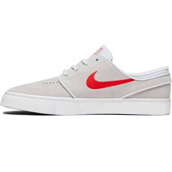 Nike Zoom Stefan Janoski Shoes - Pure Platinum/University Red/Black - 6.0