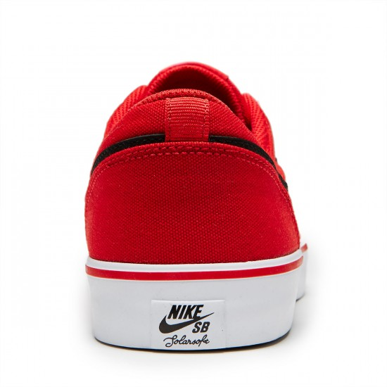 Nike SB Solarsoft Portmore II Canvas Shoes - University Red/Black/White - 8.0
