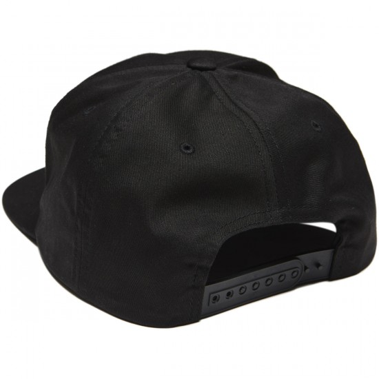 Lurk Hard Flag Logo 5 Panel Hat - Black