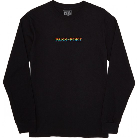 Passport Skateboards Pride Official Longsleeve T-Shirt - Black