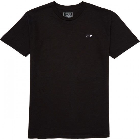 Passport Skateboards PP Puff T-Shirt - Black