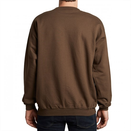 Thrasher Flame Logo Sweatshirt - Brown
