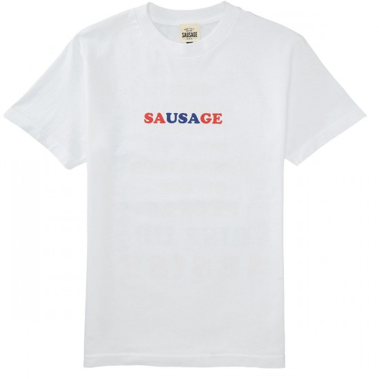 Sausage We The People T-Shirt - Red/Blue/White