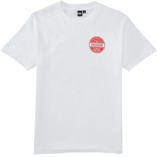 Sausage Praying Finger Ripper T-Shirt - Red/Black/White