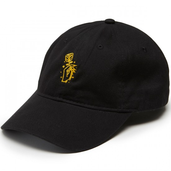 Sausage Hand Rose Unstructred Snapback Hat - Yellow/Black