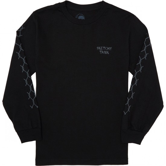 Sketchy Tank Kill Longsleeve T-Shirt - Black
