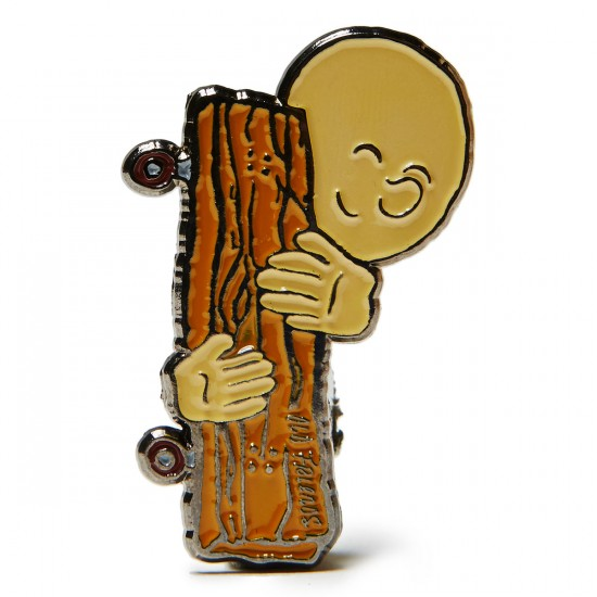 Old Friends Hug Pin - Brown