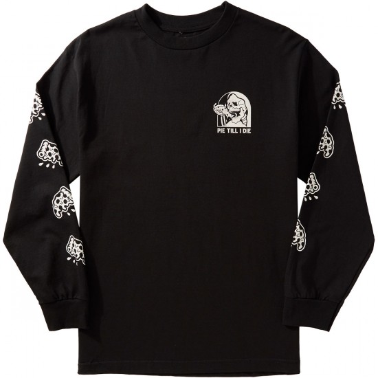 Sketchy tank pie longsleeve t shirt black for Be sketchy t shirts