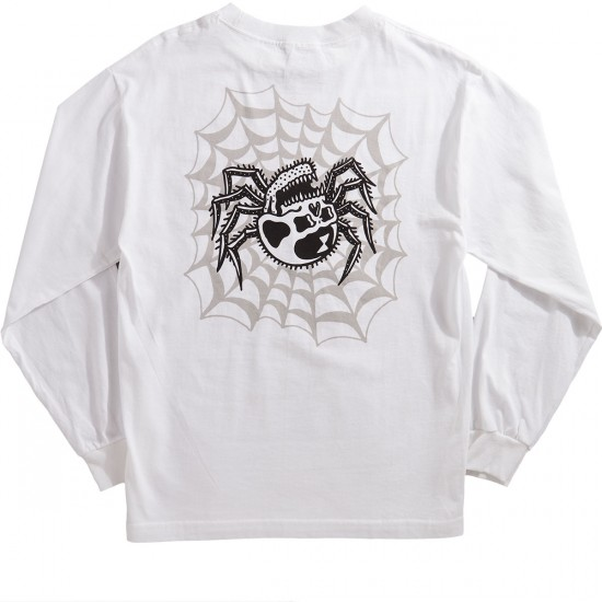 Sketchy tank widow longsleeve t shirt white for Be sketchy t shirts