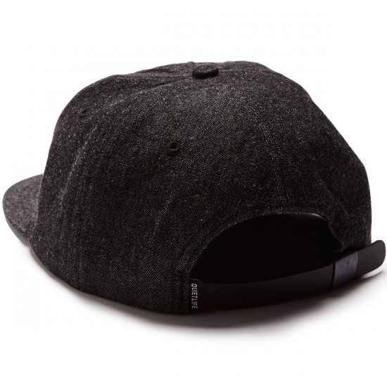 The Quiet Life Smoking Girl Polo Hat - Black Denim