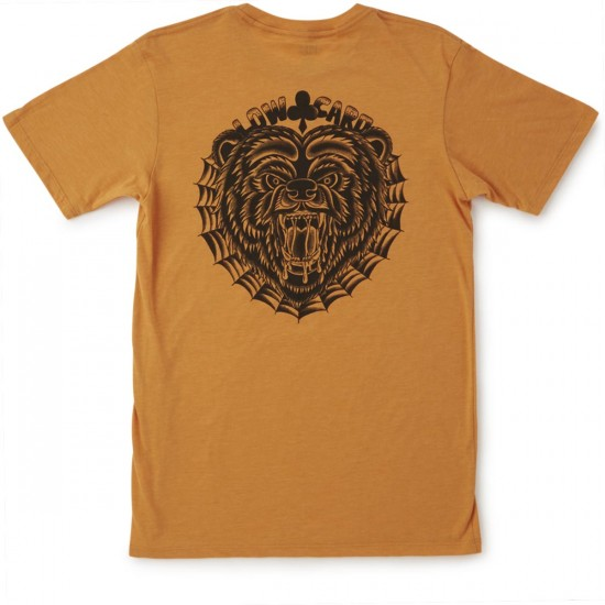 Lowcard The Rocky Downtown T-Shirt - Rust Orange