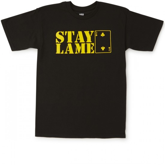 Lowcard Stay Lame T-Shirt - Black