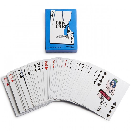 Lowcard Jokers Wild Deck Of Cards By Todd Bratrud - Blue