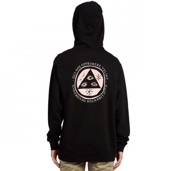 Welcome Latin Talisman Midweight Pullover Hoodie - Black/Pink