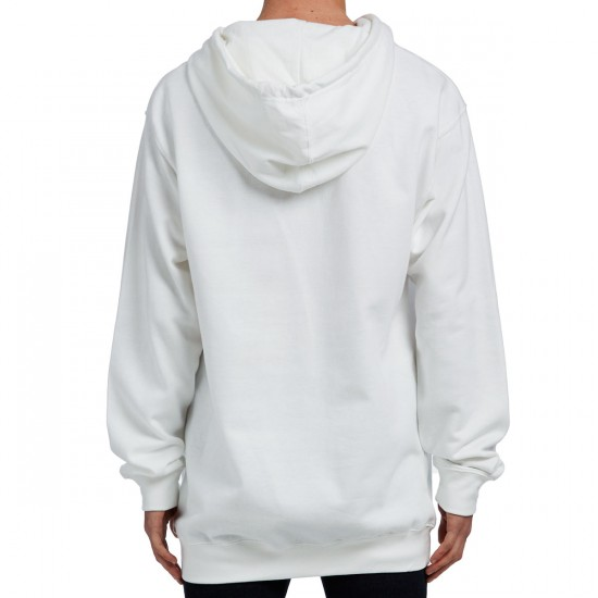 Welcome Scrawl Embroidered Midweight Pullover Hoodie - White/Black