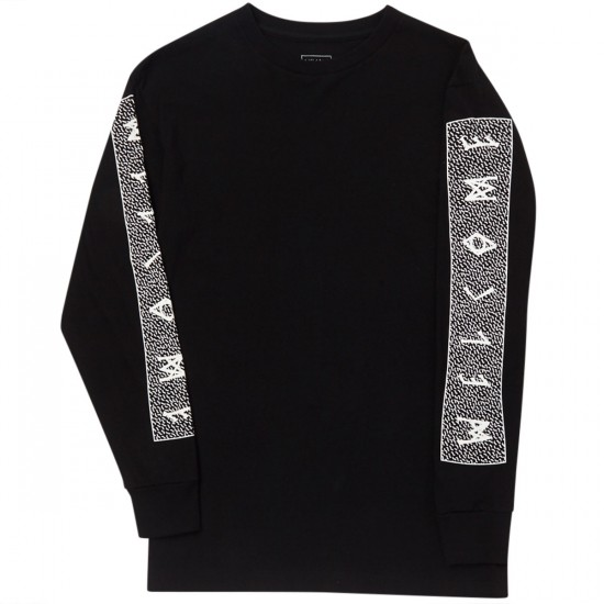 Welcome Slippery Long Sleeve T-Shirt - Black/White