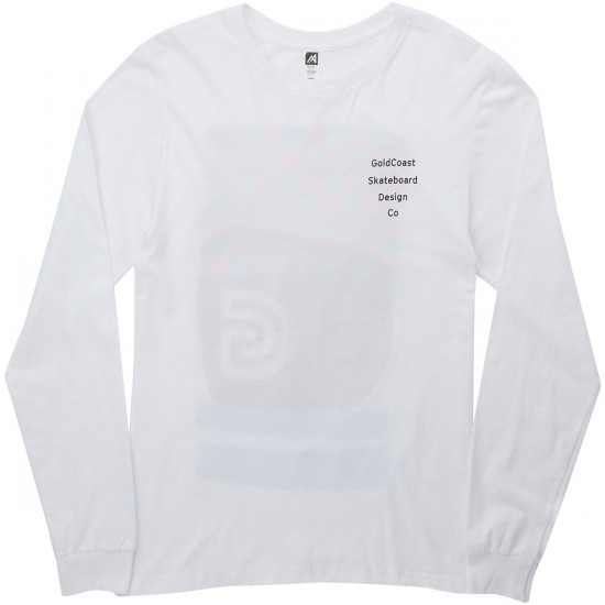 Gold Coast Pump Track Long Sleeve T-Shirt - White