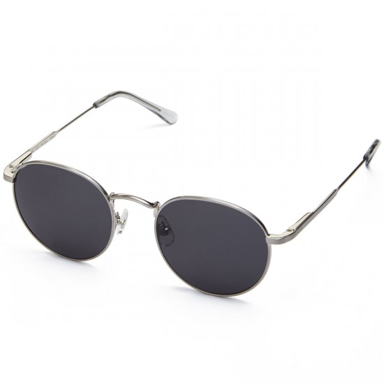 Crap The Tuff Patrol Sunglasses - Brushed Silver Wire/Smoke Grey Tips