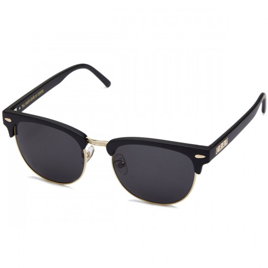 Crap The Nudie Club Sunglasses - Flat Black/Gold Wire