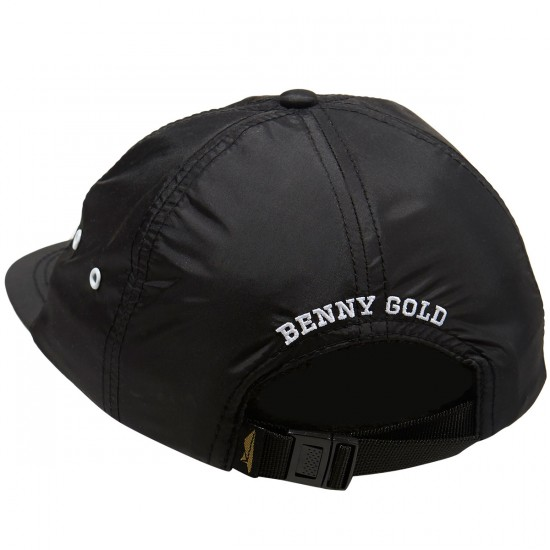 Benny Gold Paper Plane Nylon Polo Hat - Black