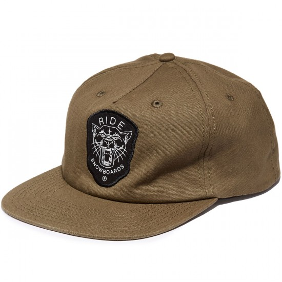 Ride Fearless Snapback Hat - Olive