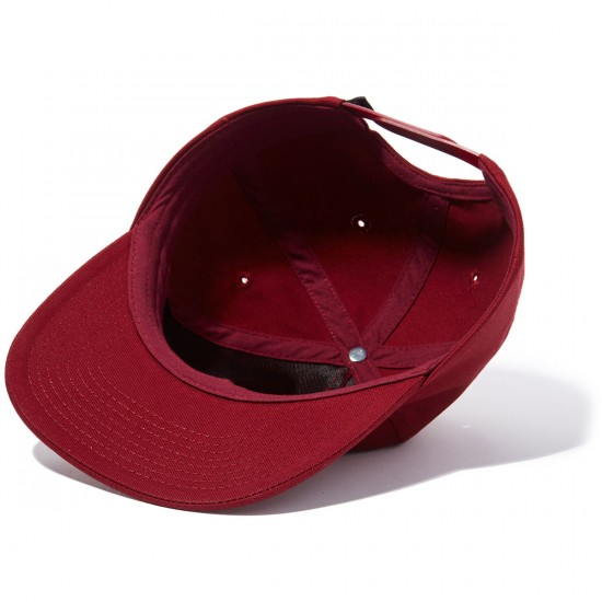 CCS Unstructured Snapback Hat - Burgundy