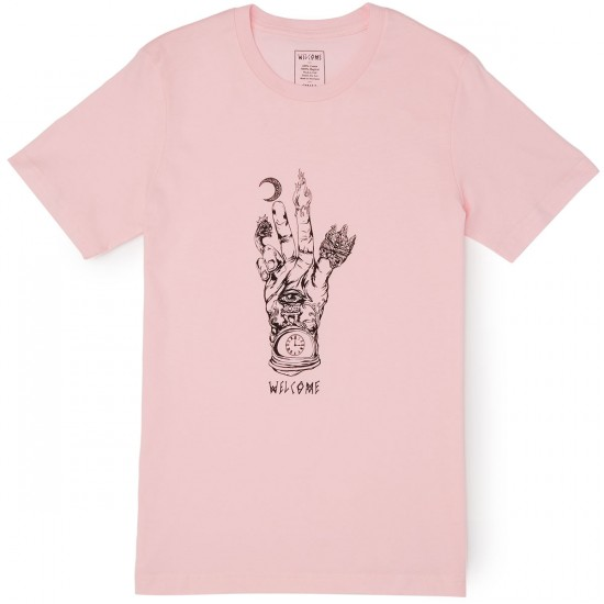 Welcome Philosophers Hand T-Shirt - Pink