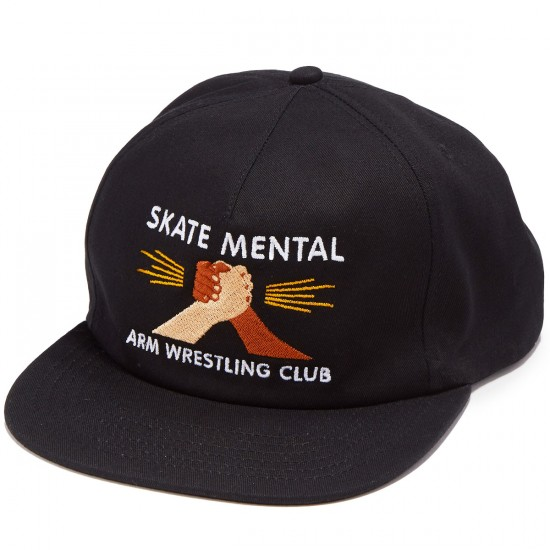 Skate Mental Arm Wrestling Club Hat - Black