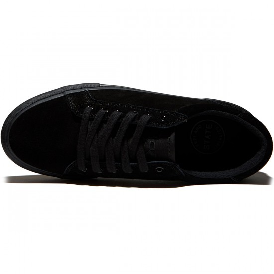 State Hudson Shoes - Black/Black Suede