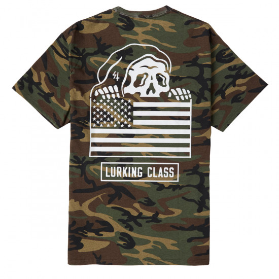 d68ecf626 Sketchy Tank Lurking Class Flag T-Shirt - Camo