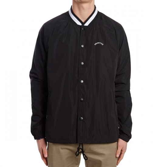 Primitive Varsity Coach Jacket - Black