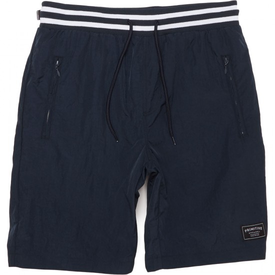 Primitive Creped Warm-Up Shorts - Midnight