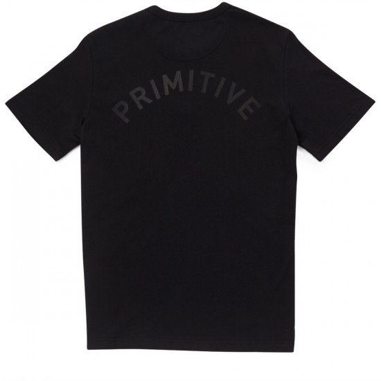 Primitive Dinley Short Sleeve Henley T-Shirt - Black