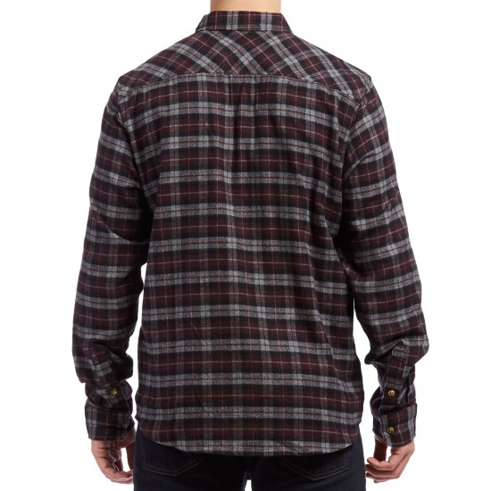 Primitive Philly Heather Flannel Shirt - Burgundy Plaid