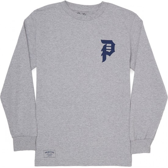 Primitive Dirty P Long Sleeve T-Shirt - Athletic Heather