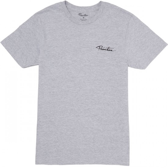 Primitive Nuevo Script Light Weight T-Shirt - Athletic Heather