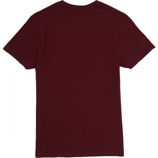 Primitive Nuevo Script Light Weight T-Shirt - Burgundy